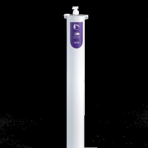Desinfectiezuil - Wit gecoat groot (105 cm hoog)